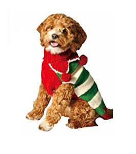 Chilly Dog Christmas Elf Dog Sweater, Medium