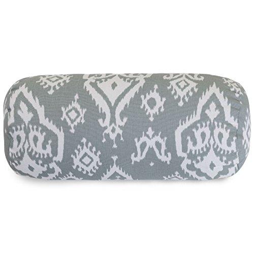 Majestic Home Goods Raja Round Bolster Pillow, Gray