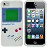 White Nintendo Gameboy Game Boy Style Soft Silicone Case Back Cover Skin For iPhone 5 5G 5t
