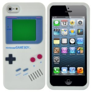 BONAMART ® White Nintendo Gameboy Game Boy Style Soft Silicone Case Back Cover Skin For iPhone 5 5G 5t