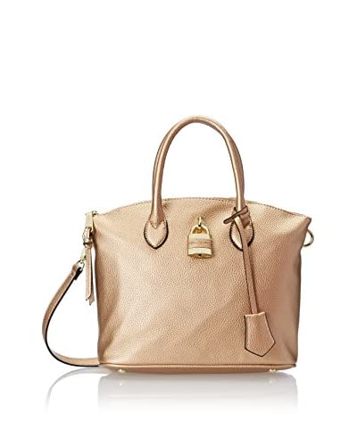 London Fog Women's Brixton Small Dome Bag, Gold