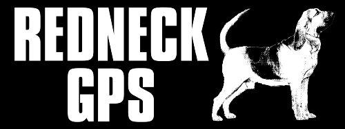 Redneck GPS Bloodhound Bumper Sticker (car decal)