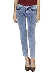LOM228 LESLEY WOMENS SKINNY COTTON LYCRA Jeans - Ice Cloud
