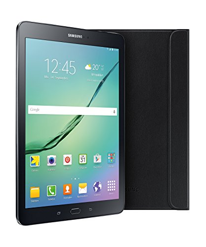 Samsung Galaxy Tab S2 T813N 24,6 cm (9,7 Zoll) Tablet-PC (2 Quad-Core Prozessoren, 1,8 GHz + 1,4GHz, 3GB RAM, 32GB eMMC, Wifi, Android 6.0) schwarz inkl. Samsung Book Cover - Limited Edition