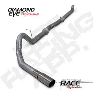 "'07.5-'10 Chevy Silverado, GMC Sierra Duramax 6.6L Diesel 2500/3500, 4"" Stainless Steel Turbo Back D.P.F. Race Single Exhaust"