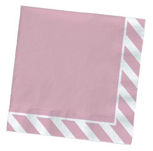 Party Partners Design Pattern Cocktail Napkins, Pink Stripe
