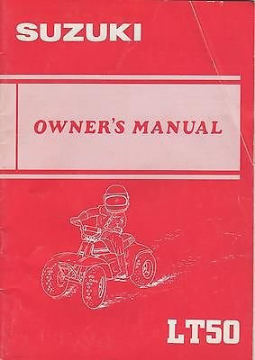 1985 Suzuki Atv 4 Wheeler Lt50 P/N 99011-04231-03A Owners Manual(565) front-355702
