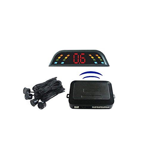 Dragon® Wireless Car Lcd Parking Sensor System With 4 Sensors, Color Lcd Display ,Car Parking Radar Sensor,Alarm By Three-Step Bibi Sound
