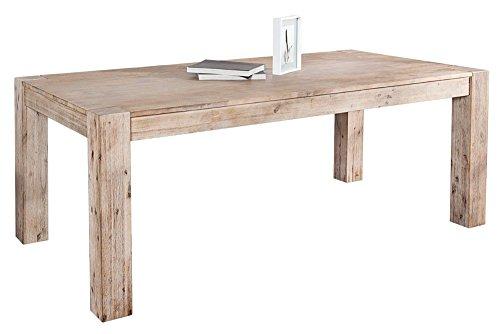 Massiver-Esstisch-MONTREAL-Akazie-teakgrau-weiss-gekalkt-200-cm-Holztisch