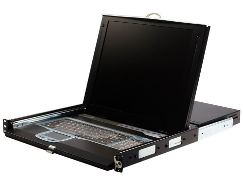 StarTech.com CABCONS1716I 1U 17-Inch Rack Mount LCD Console with Integrated 16 Port IP KVM Switch