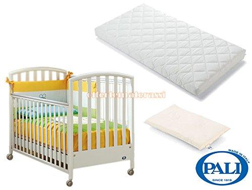 Lettino Pali Ciak bianco + materassino Pali Evo + cuscino baby antisoffoco