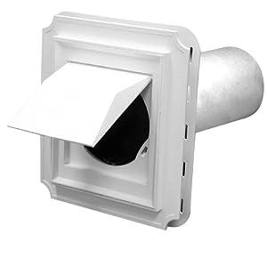 Amazon Com Duraflo 641010 00 Dryer Vent Sleeve White