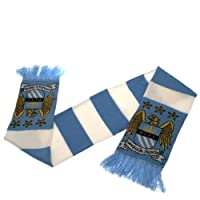 Manchester City Football Club Bar Scarf New Official England Mcfc Man City Fc