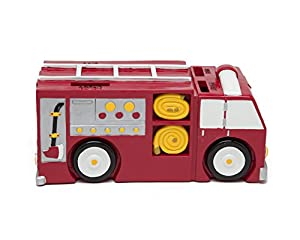 Fire Truck Coin Bank - Coin Bank for Boys - Teach Financial Literacy for Kids - Perfect Kids Money Bank - Piggy Bank of the Future