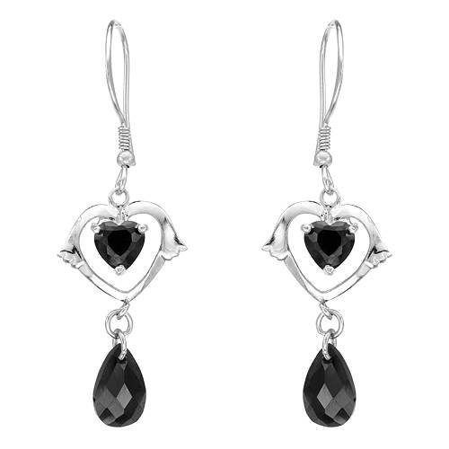 Earrings With 5.50ctw Cubic zirconia Crafted in 925 Sterling silver