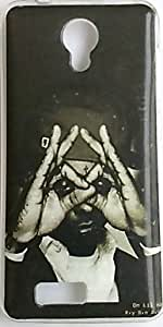 Back Cover For LYF Flame-6 (Man hand eye style Design)