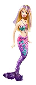 Barbie - Colour Change Hair Mermaid - Blonde Mermaid with Pink & Purple Tail - T7405