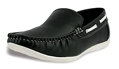 Rosso Italiano Men's Black Casual Loafers Shoe (ril499bl103)
