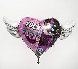 Rocker Girl Heart with Wings
