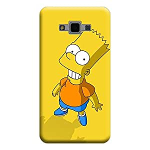 Desicase Samsung Grand Max / Grand 3 Laughing Cartoon 3D Matte Finishing Printed Designer Hard Back Case Cover (Yellow)