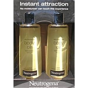 2 Pack of Neutrogena Body Oil Light Sesame Formula, 2 - 16 fl. oz bottles, Total of 32 fl. oz.