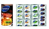 12 X Mates Happy Hour Coloured And Flavoured - Lubricated Thin Condoms