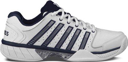K-Swiss Hypercourt Express LTR Mens Tennis Shoes (White/Navy/Silver) (10 D(M) US)