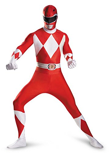 Mighty Morphin Power Red Ranger 2nd Skin Bodysuit Adult Costume Size:XXL (5-52)