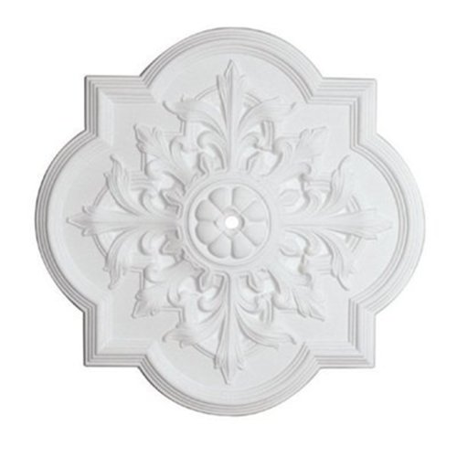 Capital Lighting 79455 Norwich 31.5-Inch Ceiling Medallion, White Finish