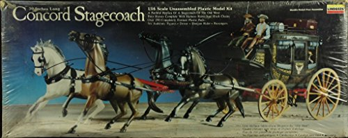 Lindberg 1:16 30 Inch Long Concord Stagecoach Plastic Diorama Kit #351 (Stagecoach Model compare prices)