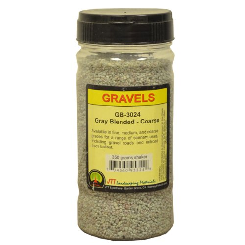 JTT Scenery Products Ballast and Gravel, Gray Blend, Coarse