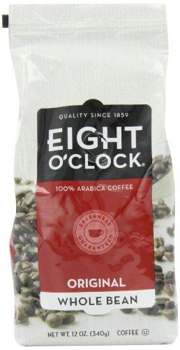Eight O'Clock Coffee, Original Whole Bean, 12-Ounce Bag (Pack of 4)