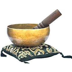 "6"" Superb B Crown Chakra Old Tibetan Singing Bowl, Meditation bowls,Hand beaten singing bowl, Handmade bowl from Nepal,Singing bowls."