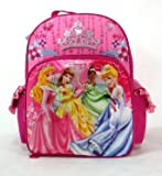 Disney Princess Backpack ~ Full Size Large ~ Tiana, Sleeping Beauty, Belle & Cinderella