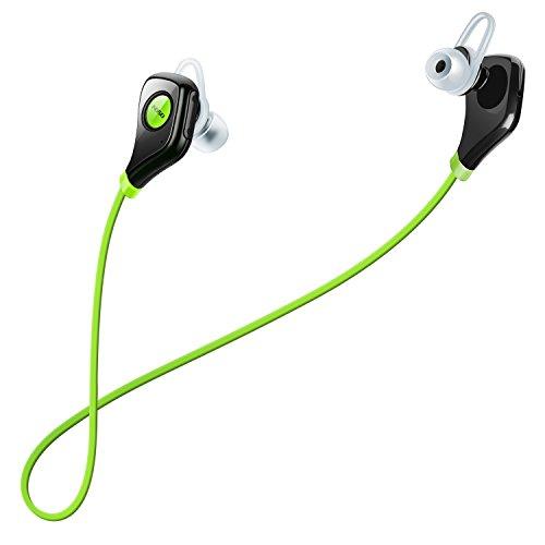 AOSO S5 Auricolari Wireless Bluetooth Headset Stereo Sportive a Prova di Sudore con Microfono e CVC6.0 Cancellazione del Rumore AptX Tecnologia per iPhone Samsung Huawei e altri Smartphone Tablet Verde