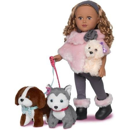 My Life As 18 inch Doll of the Year Dogwalker Brunette - Walmart Exclusive
