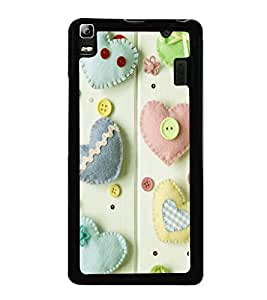 printtech Hearts Buttons Back Case Cover for Lenovo K3 Note