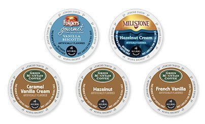 30 Count - Hazelnut & Vanilla K-Cup Variety Pack (5 Flavors, 6 K-Cups Each)