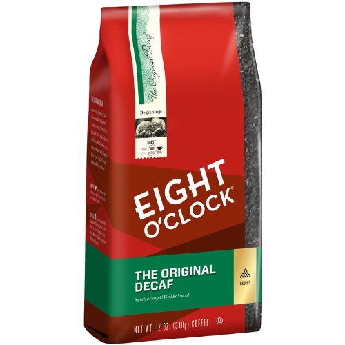 Eight O'Clock The Original Decaf Ground Coffee, 12-Ounce Bag (Pack of 6)