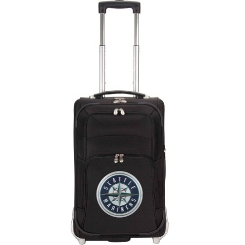 MLB Seattle Mariners Denco 21-Inch Carry On Luggage, Black