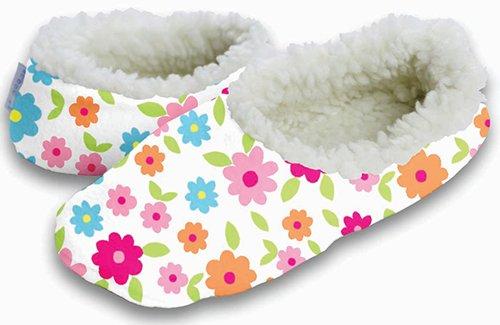 Cheap Snoozies Mini Floral No Skid Slipper Sock Footwear (100-213W)