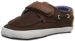 Tommy Hilfiger Kids Little Corey Infant Shoe (Infant/Toddler), Dark Brown/Cognac, 2 M US Infant