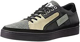Galliano Mens Black Leather Sneakers B0177ZFLB8