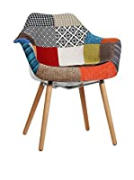 LO+DEMODA Set Silla 2 Uds. Tower Wood Arms Mix Patchwork