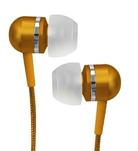 Coby CVEM79ORG Jammerz Platinum High-Performance Isolation Stereo Earphones, Orange