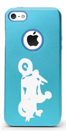 CHOPPER (MOTORBIKE) Aluminum and Silicone iPhone 5/5s Protective Case (VARIABLE COLORS) (Light Blue)