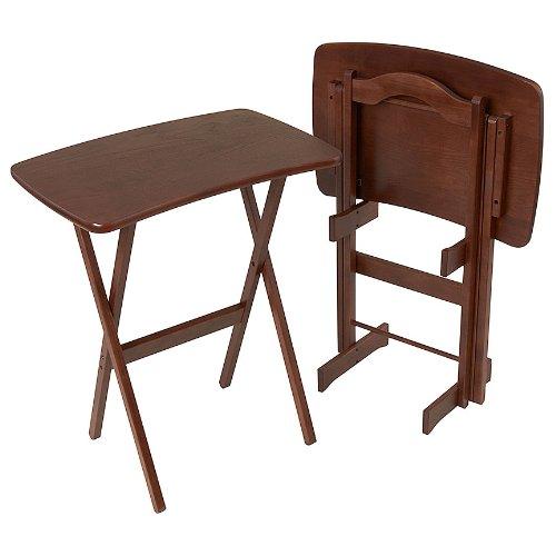 Contemporary Folding Tv Tray Table Set Of 2