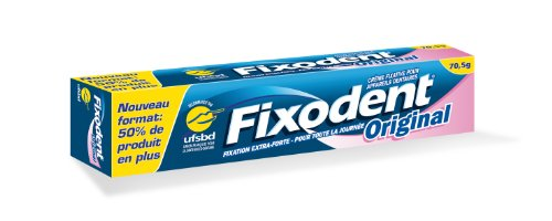 Creme fixative Fixodent Original 70,5g lot de 2