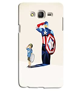 Blue Throat Boy With Avengure Shadow Printed Designer Back Cover/ Case For Samsung Galaxy On 7