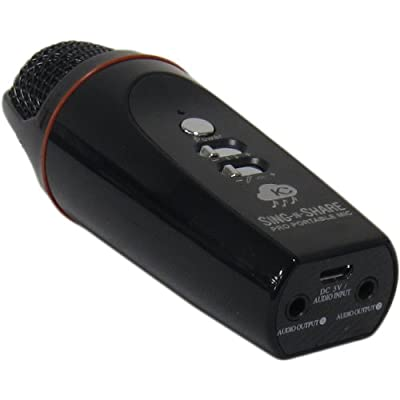 Sing n Share Pro Portable Mic for Android (Black) With Free Karaoke Streaming!